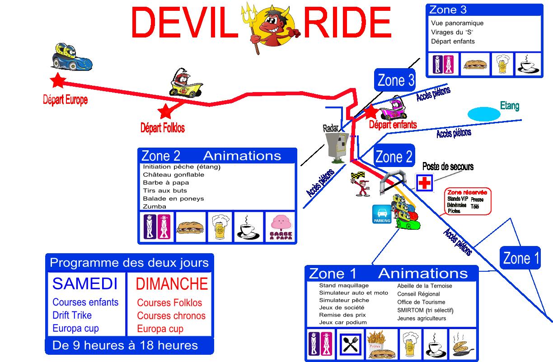 Plan d'accès aux courses et animations
